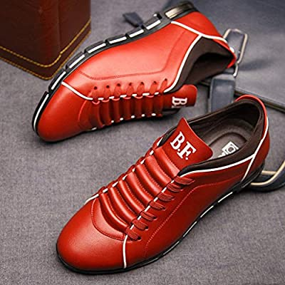 5b763eab5ad5 Hunzed Men【Business Casual Leather Shoes】Clearance Men's Brogues Oxford  Wingtip Leather Dress Shoes for Business Casual Lace-Up