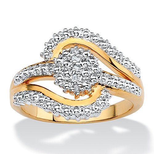 Diamond Accent Bypass Ring - 4