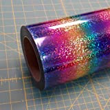 Rainbow DecoSparkle 19'' x 10' (10 feet) Iron on Heat Transfer Vinyl Roll, HTV