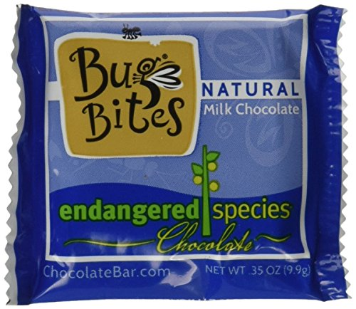 Endangered Species Bug Bites, Milk Chocolate, 0.35 Ounce (Pack of 64) -