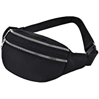 Fanny Pack Waist Bag Waterproof Waist Packs Shoulder Hip Bum Belly Bags with Adjustable Strap Money Phone Pocket Pouch…