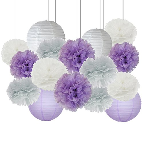 Lavender Baby Shower Decorations Amazon