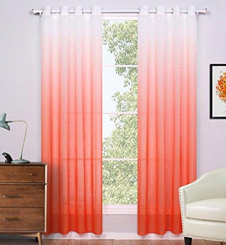 Amazon.com: AMSS Gradient Seriea 2 Panels Semi  Blackout Curtains