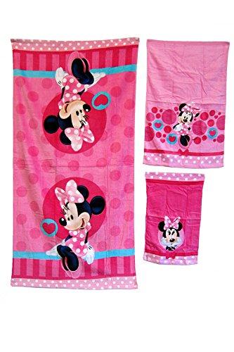 Minnie Mouse 3-piece Bath Towel Set by S.L. Home Fashions