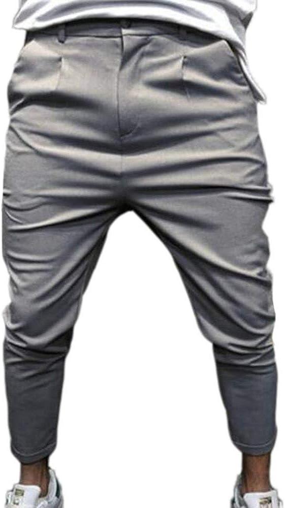 huateng Uomo Drop Cavallo Basso Harem SkinnyTrousers