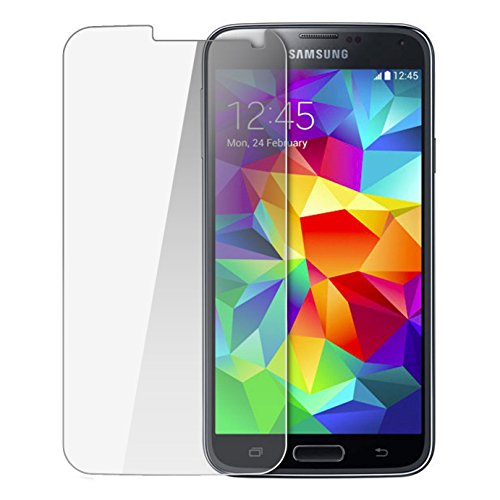 KORAMZI TEMPERED GLASS Premium Screen Protector For Samsung Galaxy S5 HD Clear 2.5D Curved Edge Anti Fingerprint (Perfectly (Guardians Of The Galaxy For Sale)