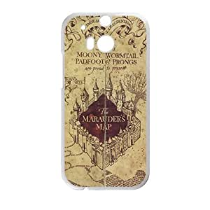 Happy The Marauders Map Cell Phone Case for HTC One M8