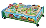 62 Piece Wooden Train Set Train Table/Trundle - BRIO Thomas & Friends Compatible