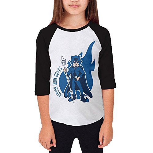 Price comparison product image Amone Teenager Girl Baseball Raglan Duke Devil Logo University Tee Black S
