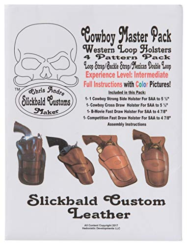 - Cowboy Western Loop Holsters 4 Pattern Master Pack from Slickbald Custom Leather, Loop Strap/Buckle Strap/Mexican Double Loop