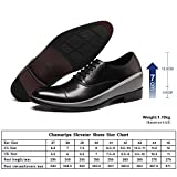 CHAMARIPA Lace Up Leather Tuxedo Dress Oxfords Wedding Shoes Height Increasing Elevator Shoes 2.76 Taller X92H38-1