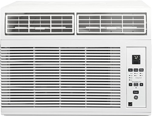 "GE AHM06LY 19"" Energy Star Qualified Window Air Conditioner with 6000 BTU Cooling Capacity, in White"