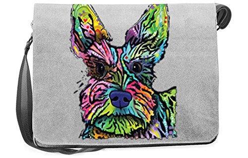 Pop Art Canvas ::: Stella ::: peppige Umhängtasche mit Art Style Hunde Motiv