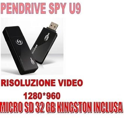 PENDRIVE U9 espía con cámara + Micro SD 32 GB oculta 1280 x 960 Pen Video