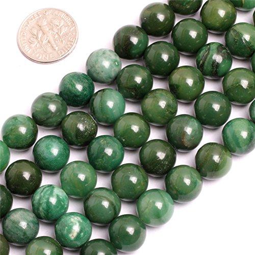 Africa Jade Jadeite Beads for Jewelry Making Natural Gemstone Semi Precious 10mm Round Green 15