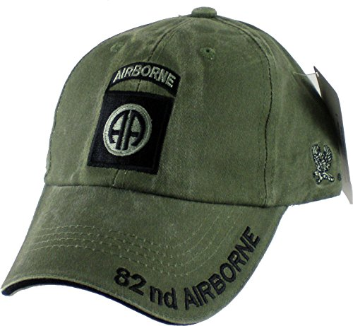 82nd Airborne Division OD Green Low Profile Cap Airborne Low Profile Cap