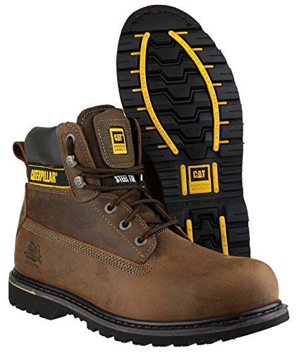 Cat Footwear Holton SB - Botas de seguridad para hombre Marrón Oscuro