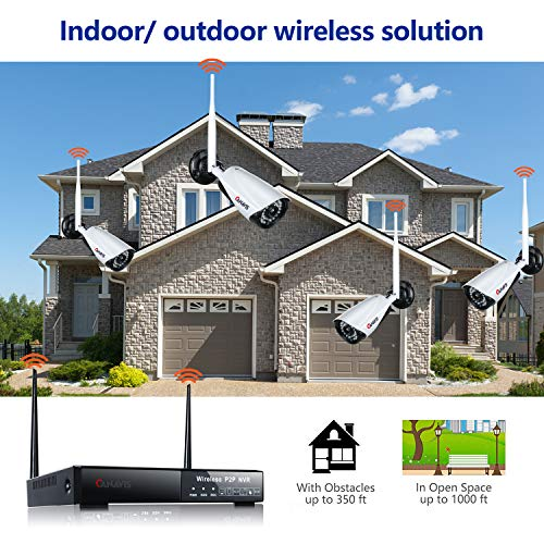 Canavis Security Camera System 4ch 960p Nvr And 4pcs 720p