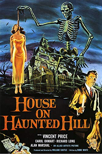(American Gift Services - Vintage Vincent Price Horror Movie Poster House on Haunted Hill - 11x17 )