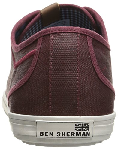 Ben Sherman Heren Chandler Lo Fashion Sneaker Bordeauxrood