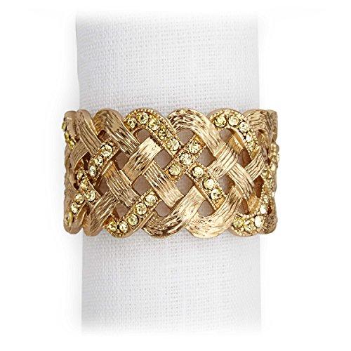 L'Objet Platinum Braid Napkin Jewels, Set of 4 - Lobjet Platinum Braid