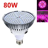 Grow Light - BANGWEIER 80W E27 Full Spectrum LED Plant Grow Lights Bulb Veg Hydroponic Lamps