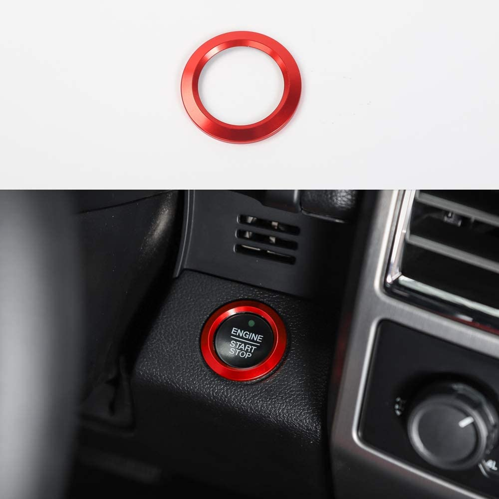 Red ABS Inner Engine Start Switch Knob Button Decor Ring Cover Trim For Ford F150 2015 2016 2017 2018 2019