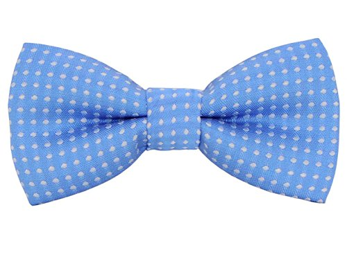 Heypet Colorful Polka Dots Bow Tie, Adjustable Bowtie Fashion Accessories for Pet Dog Cat DLJ17 (Light Blue 3)