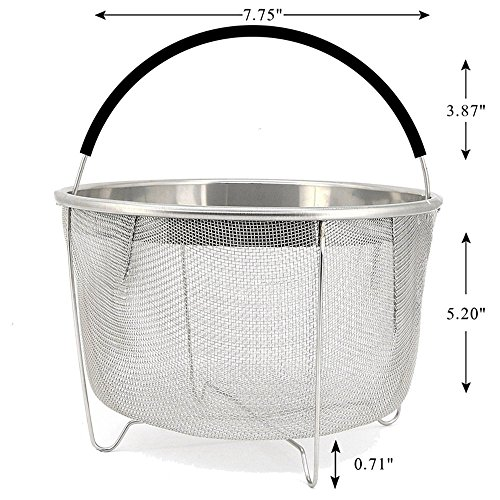 Steamer Basket for 6 or 8 qt Instant Pot Pressure Cooker, 30