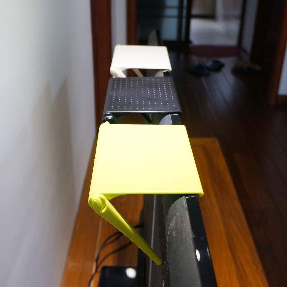 Nero accessori per scrivania porta computer portaoggetti regolabile per ufficio Ripiano per lo schermo del computer