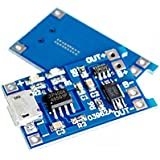 HiLetgo 2PCS 5V 1A 18650 リチウムバッテリー チャージボード Micro USB チャージモジュール プロテクト [並行輸入品]