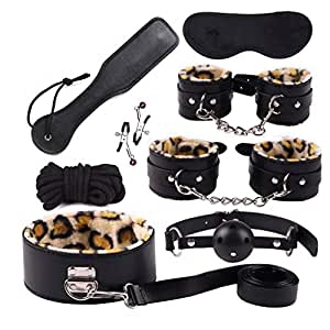 SLH 8-Piece Bundle Binding Police Toys, Police Handcuffs and Whistle Police Costumes for Kids and Boys Party Like Costume Props Children Playing with Toy Handcuffs