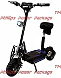 Super Cycles & Scooters - Super Turbo 1000-Elite - 36V Electric Scooter - 2-Wheel - Black - PHILLIPS POWER PACKAGE TM - TO $500 VALUE