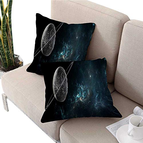- longbuyer Square Euro Sham Cushion Cover Planets and Galaxies Science Fiction Wallpaper Pillow Covers W 24