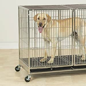 ProSelect Stainless Steel X-Tall Modular Dog Cage with Tray