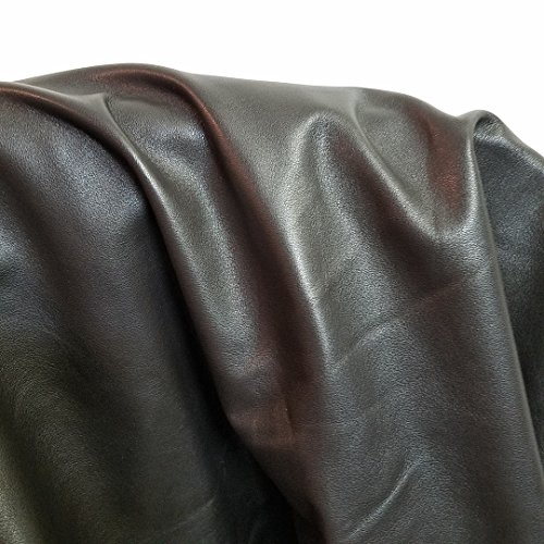 Dark Brown Cow Hide Leather Skins 17-21 SQ.FT. 1.5-2.0 OZ. Upholstery Bookbinding CHAP NAT Leathers (17-21 sq.ft) ()