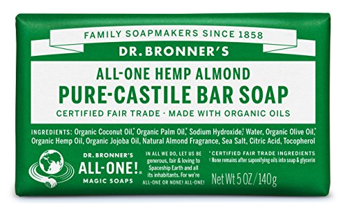 Dr. Bronner's Pure-Castile Bar Soap -- Almond, 5oz, 6-Pack