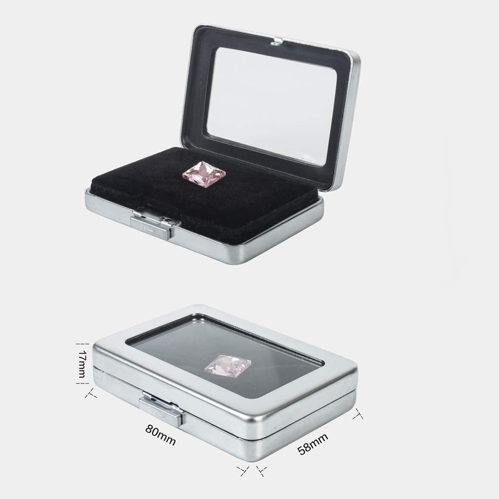 Fityle 10Pcs Gemstone Diamond Gem Jewelry Storage Box Organizer Case, Double-Faced Velvet Lining Pad by Fityle (Image #3)