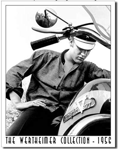 (ShopForAllYou Vintage Decor Signs Elvis Motorcycle Metal Tin Sign Rock N Roll Movie Music Home Bar Shop Decor New)