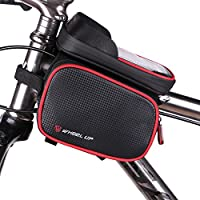 Bike Bag, WAGOLO Waterproof Universal Cycling Bicycle Frame Bags Phone Mount Holder For Cellphone Below 6.2 inch Top Tube Handlebars Bag