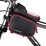 Bike Phone Mount Bag, Waterproof Universal Cycling Bicycle Frame Bags Phone Mount Holder for iPhone 6/6s/7/7s/8/X Plus Samsung 7 Note 7 Below 6.2 inch Handlebars Bag