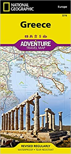 Greece Map Images.Greece National Geographic Adventure Map National Geographic Maps