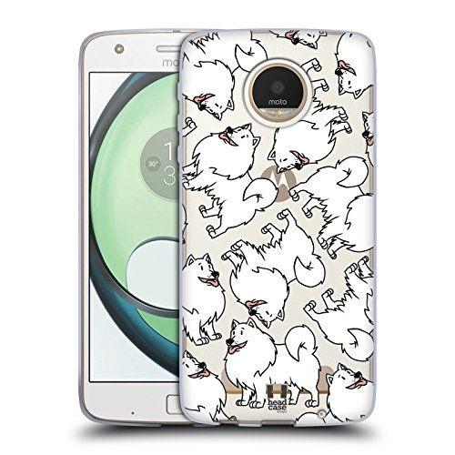 erican Eskimo Dog Breed Patterns 13 Soft Gel Case for Motorola Moto Z Play / Droid ()