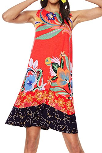 Orange Desigual Kleid Damen Viskose 18SWVK91ORANGE pPwfvCq