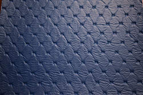 (Vinyl Fabric Pacific Blue Embossed Diamond Faux Leather Upholstery)