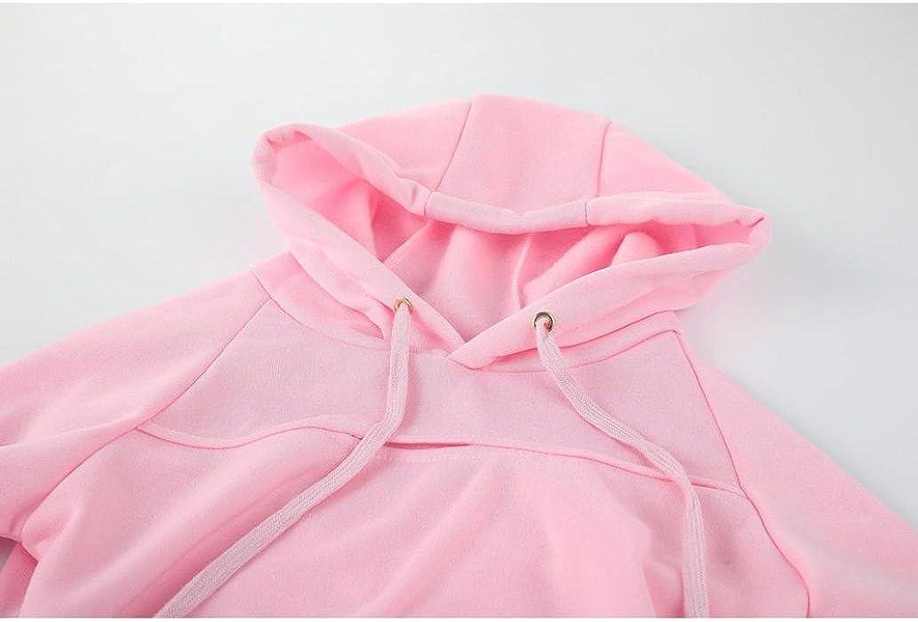 InKach Womens Crop Tops Ladies Long Sleeve Hoodies Sports Sweatshirt Pullover Blouse Tops