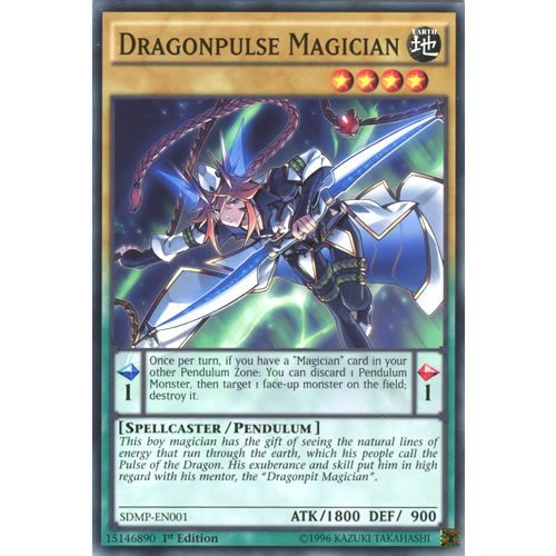YuGiOh : SDMP-EN001 1st Ed Dragonpulse Magician Common Card - ( Master of Pendulum ) by Deckboosters