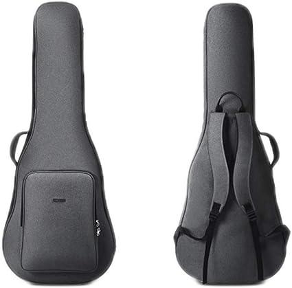 YXIAOn Funda de guitarra para 40/41 pulgadas, funda de guitarra acústica y clásica, 10MM Extra Thick Sponge Padded, funda impermeable para guitarra, funda de mochila suave para guitarra con doble corr: Amazon.es: