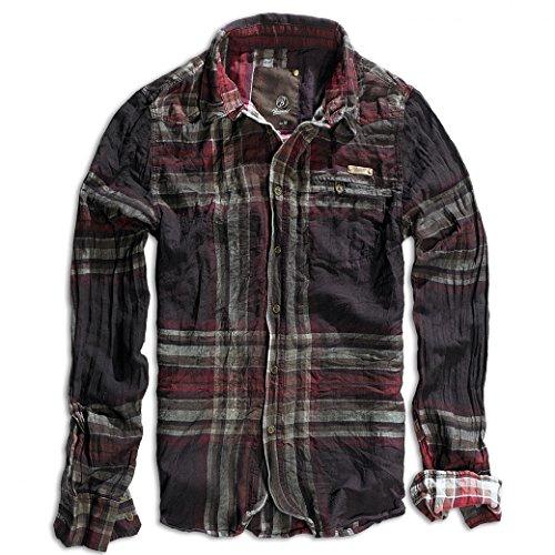 Brandit Mens Wireshirt Raven Choco/Red