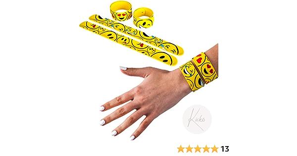 Emoji Shop Slap on Bracelets Wrist Bands Favors Gift Same Day Dispatch